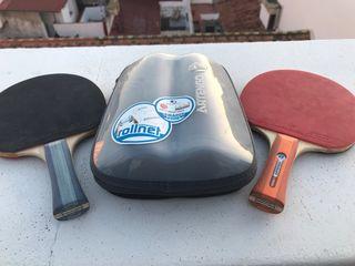 Palas y red portátil pin pon