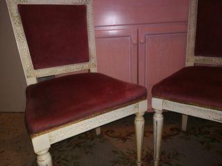Conjunto sillas tocador antigüas