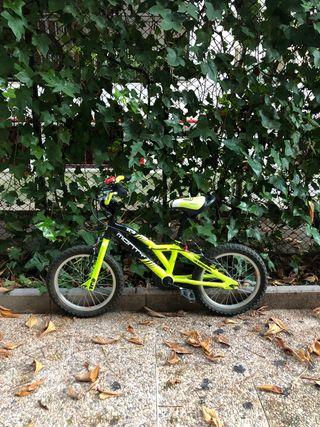 Bicicleta MONTY 16 pulgadas para niños 3-5años