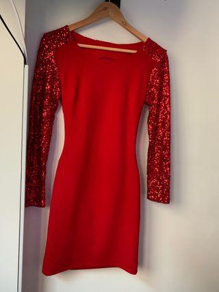 Vestido rojo lentejuelas