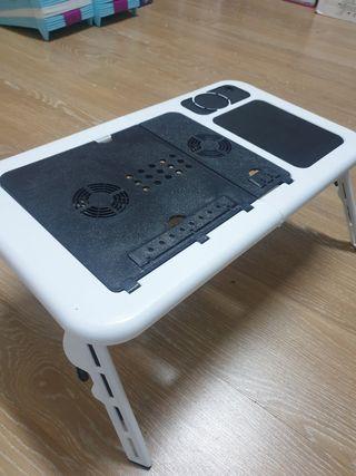 mesa para portátil con ventilador