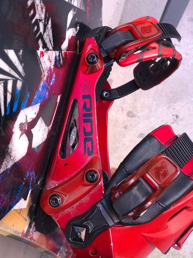 Tabla Snowboard Ride Manic + Fijaciones