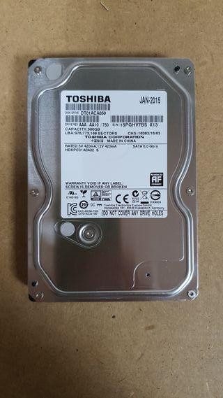 Disco duro 500GB SATA TOSHIBA
