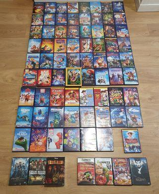 Colección de películas clásicos Disney y Pixar.