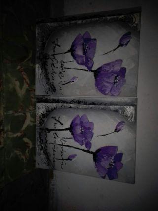 se venden cuadros de flores