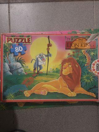 Puzzle 80 peces El Rei Lleó