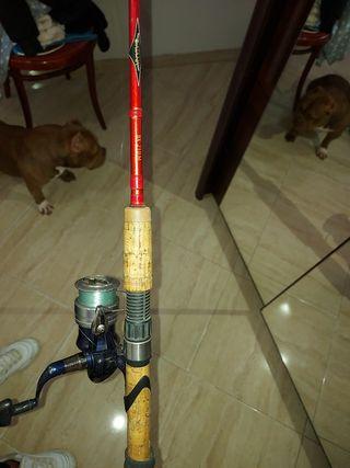 caña y carrete pesca