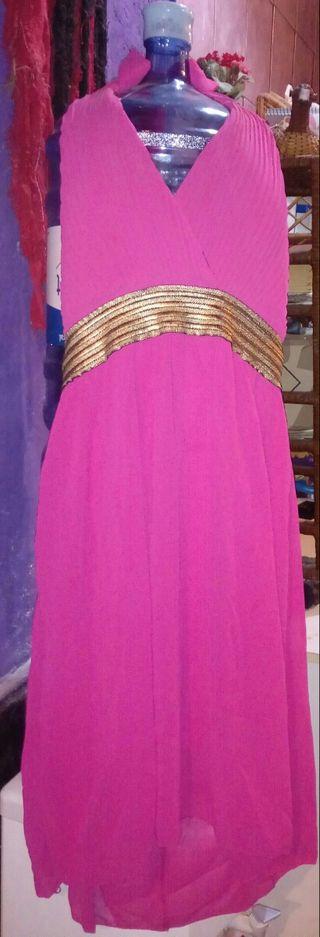 vestido rosa fucsia nuevo precioso