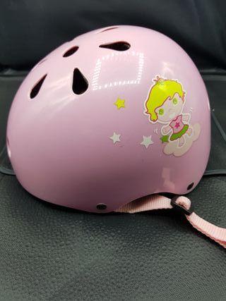 Casco niña 48-52 cm color rosa ajustable