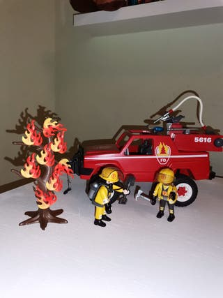 Lote bomberos forestales Playmobil