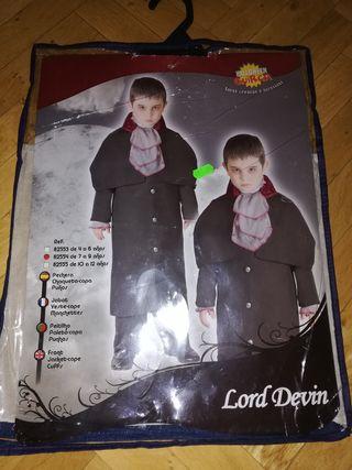 Disfraz Drácula - Halloween T. 7 a 9 años.