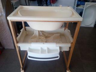 bañera carro con cambiador