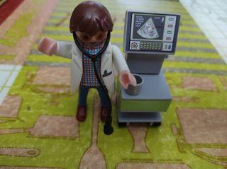 Playmobil ,Doctor con ecografo