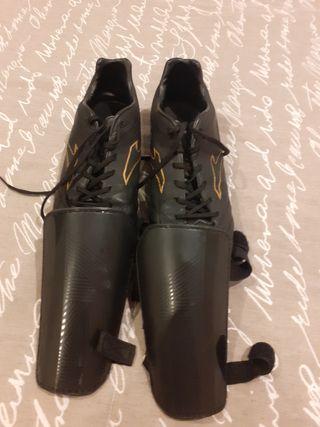 botas de futbol y espiniñeras
