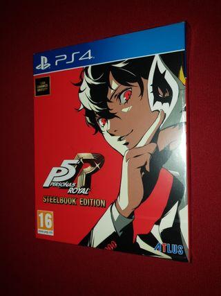 Persona 5 royal Steelbook Play ps4 Pal Precintado