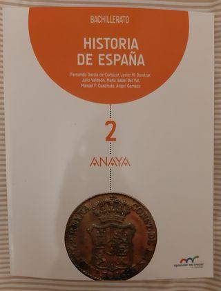 Libro de Historia de España, 2 Bachillerato