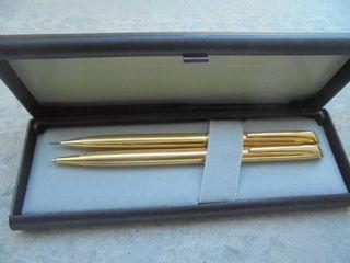 Bolígrafo + Portaminas Kreisler chapado en oro