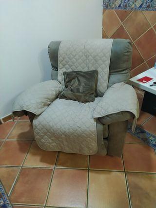 Pack de sillon de uno y sofa de tres