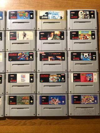 Lote videojuegos SNES