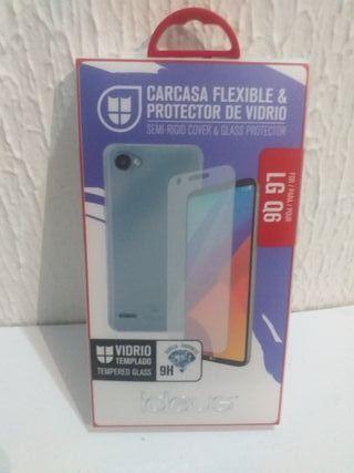 LG Q6 CARCASA FLEXIBLE + PROTECTOR