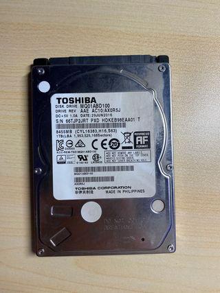 Disco duro Toshiba 1tb 2.5'