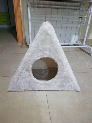 Cama cueva rascador gato