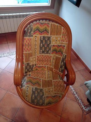 Sillón sofá de mimbre