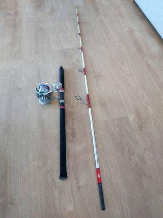 Caña y carrete de pesca Spinning Atún