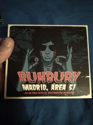 Bunbury Madrid Área 51 2 CD 2 DVD