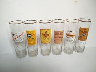 juego 6 vasos tubo Vintage