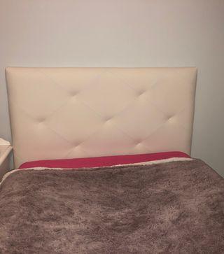 Canape+cabezero polipiel blanco105cm