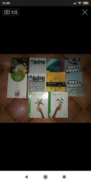 Libros 1°Bachillerato (Ciencias de la salud)