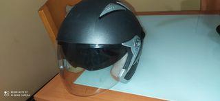 casco de moto jet