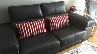 Sofá tresillo + chaise longue