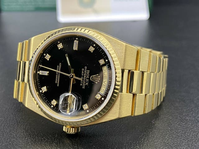 Rolex Oyster Quartz Day-Date oro 19018 18 kilates