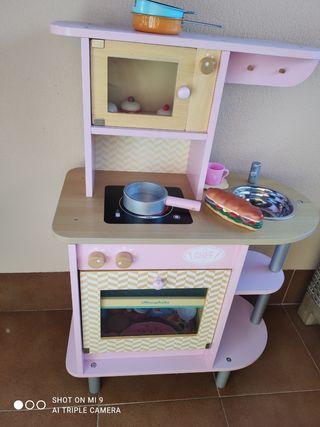 Cocinita del Chef de madera rosa de Vilac