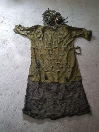 Capa + Gorro camuflaje