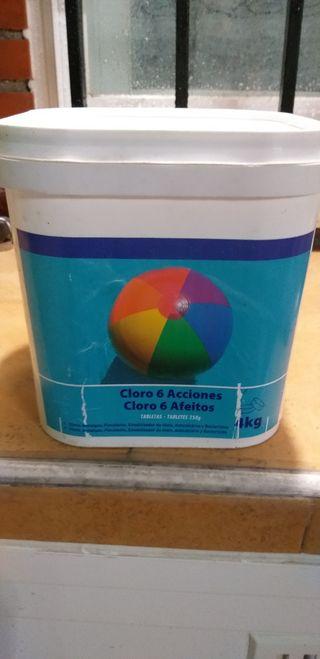 lote de cloro y reductor para piscina