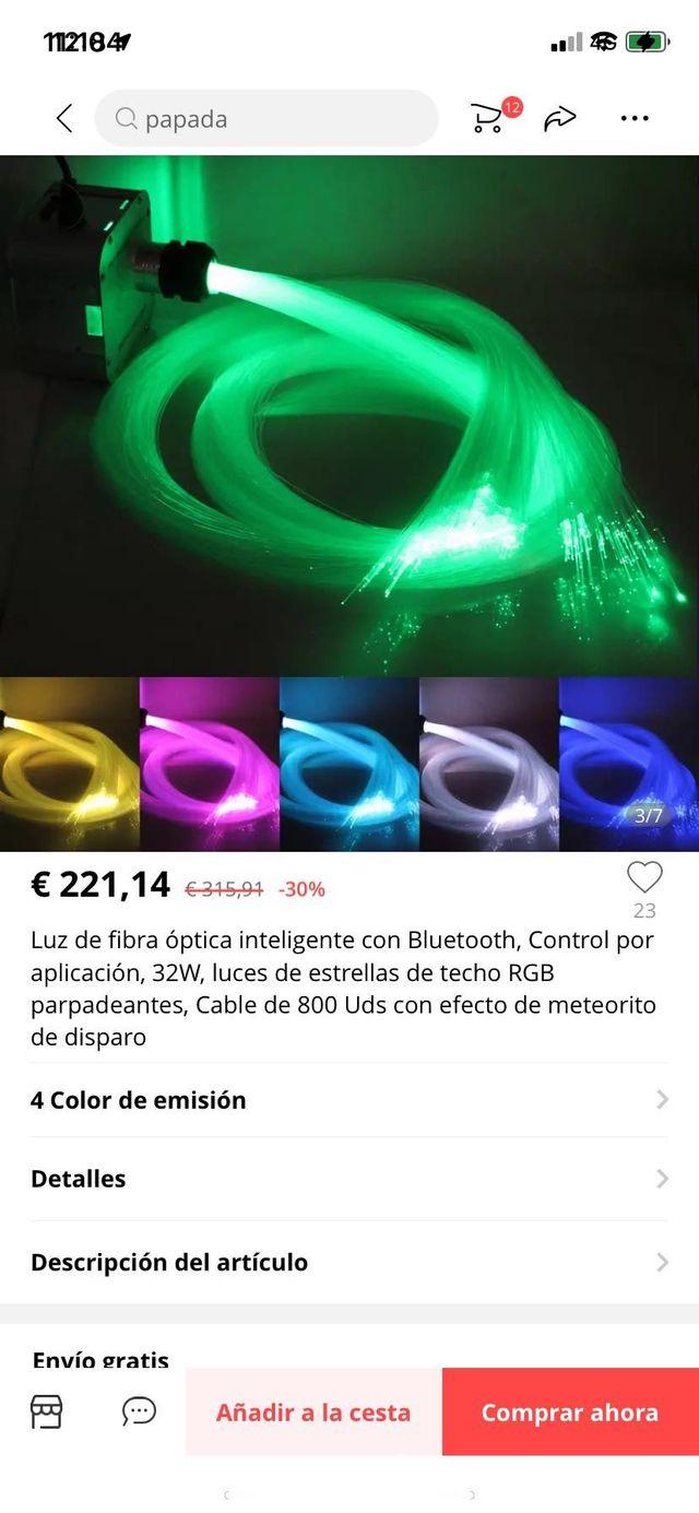 Fibra optica led