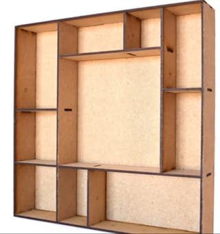 Scrap. Caja decorativa. Shadow Box.
