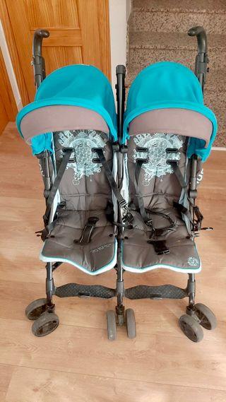 Carro silla de Paseo Gemelar Nanuq Twin Jané 0m+
