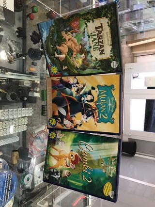 Pack 3 películas Disney DVD