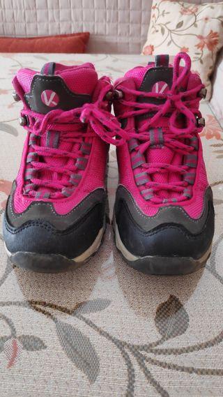 botas de trekking/senderismo niña talla 30