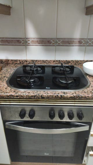 horno y placa de gas