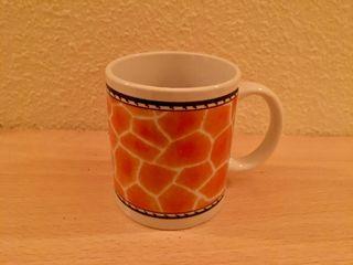 Taza cerámica desayuno animal print