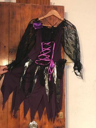 Disfraz de vampira/bruja de niña