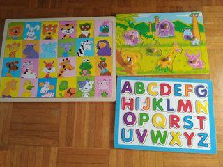 Rompecabezas, abecedarios, puzzles.