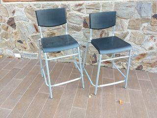 Par de sillas altas