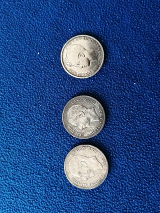 reproducción en plata Alfonso XII y XIII