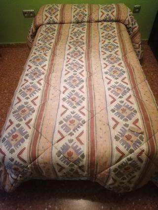 2 Edredones iguales y reversibles de cama de 90 cm